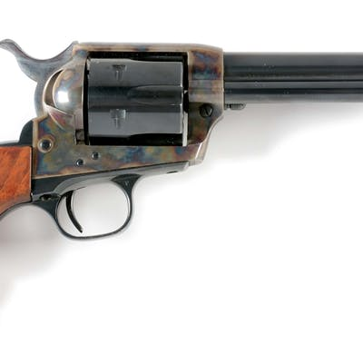 """Standard 5-1/2"""" blue and case color revolver with two..."""