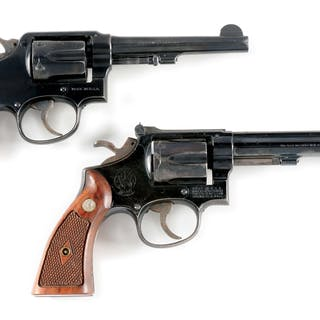 Lot consists of: (A) Pre-war HE .38 special M&P four...