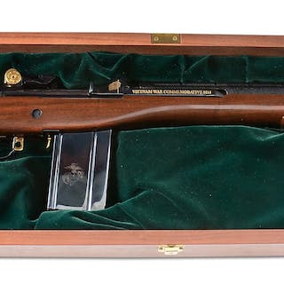 The M-14 style semi-automatic rifle was made by Federal...