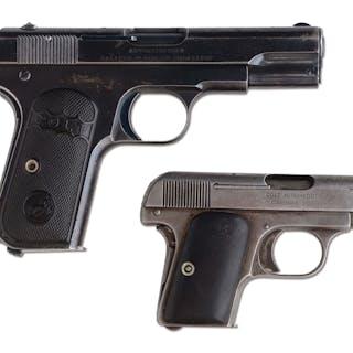 Lot consists of: (A) Colt Model 1908 in .25 caliber