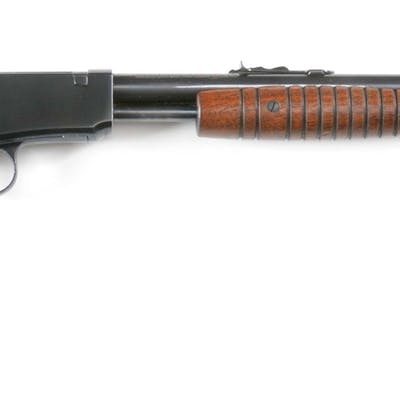Standard features of this high condition rifle include round barrel