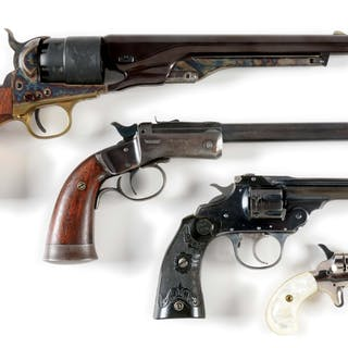 Lot consists of: (A) Reproduction real Colt Model 1860...