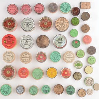 Lot consists of: Forty seven different tins and cap boxes...