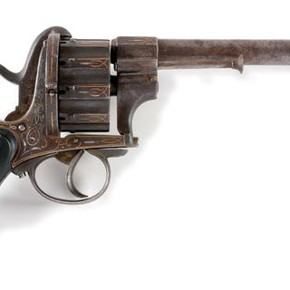 Most attractive multishot pinfire double action revolver...