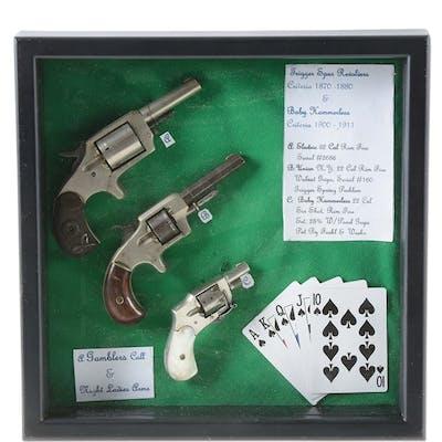 Lot consists of: (A) Spur trigger five shot nickel...