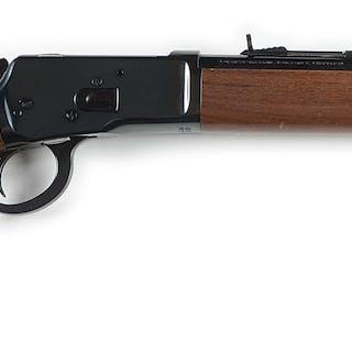 "16"" round barrel saddle ring carbine with barrel markings..."