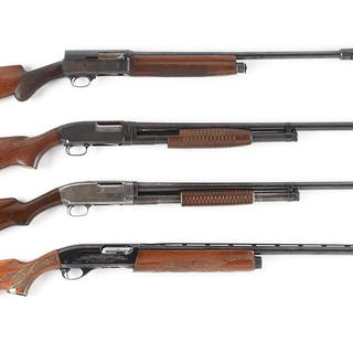 Lot consists of (A) Remington Model 1100 with fixed choked ventilated rib barrel