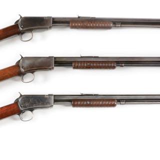Lot consists of: three rifles that feature full octagon barrels