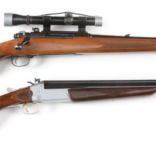 Lot consists of: (A) Winchester Model 70 Featherweight manufactured 1962