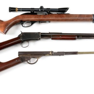 Lot consists if: (A) Glenfield Model 70 semi-automatic...