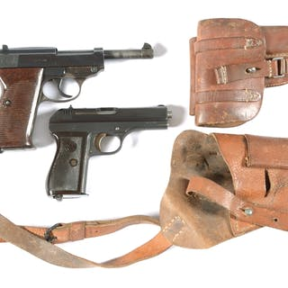 """Lot consists of: (A) Mauser made byf code P.38 pistol dated """"44"""""""