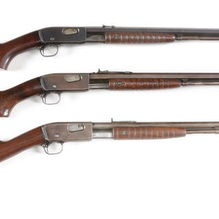 Lot consists of three Pre-War Remington Model 12