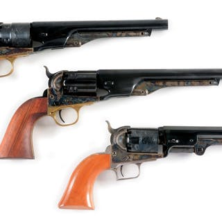 Lot consists of an 1851 Navy and two 1860 Army revolvers