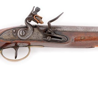 Consignor listed this as a John Schuler contract flintlock pistol