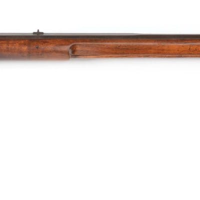 Buck and ball smoothbore rifle built in the typical...