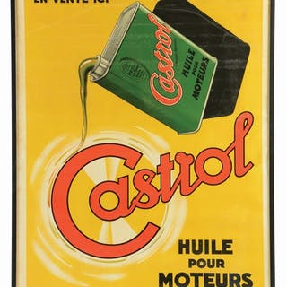Large framed poster for Castrol Motor Oil for the French Market