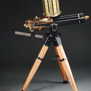 "Wonderful reproduction ten barrel Gatling with 18"" barrel..."