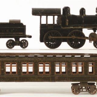 Set consists of: a 4-4-0 Steam Locomotive with a proper...