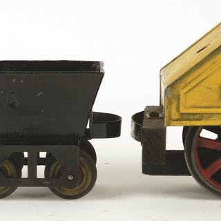 Set consists of: one Carlisle Mining Locomotive