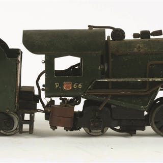 Two-rail O-Scale 2-8-2 Steam Locomotive and Tender is missing rear coupler