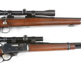 Lot consists of (A) Remington Model 722 bolt action rifle