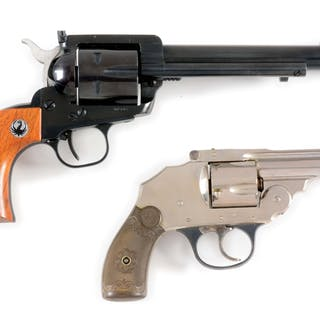 Lot consists of: (A) Ruger flat-top with its original box...
