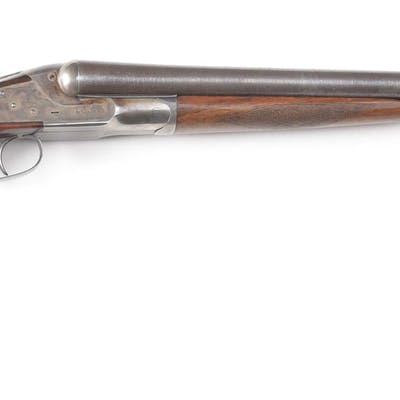 """Field grade gun made with 30"""" Damascus barrels with steel front bead"""