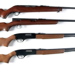 All are semi-automatic and all shoot the .22 rimfire cartridge