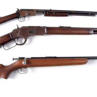 (A) Marlin Model 29 pump rifle made from 1913-1916