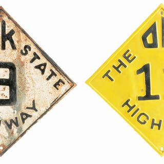 Lot Consists Of: Oklahoma State Highway 11 Embossed Shield Sign