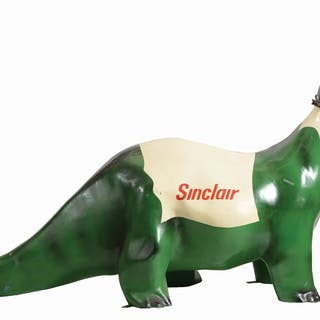 A very nice displaying fiberglass Sinclair Service Station Dinosaur