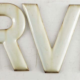 Single Sided Embossed Porcelain Letters
