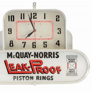 An excellent example of this clock from McQuay Norris Piston Rings