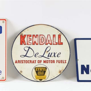 Lot Consists Of: Sinclair Gasoline Porcelain Pump Plate