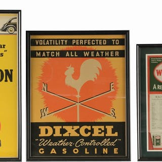 Lot Consists Of: Wolf's Head Motor Oil Card Stock Oil Recommended Oil Chart