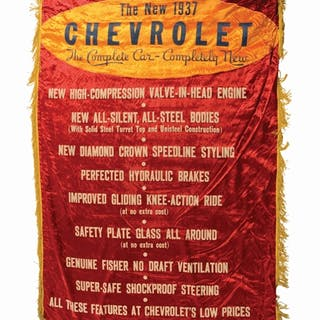 Lot Consists Of: Chevrolet The New Leader In Economy Nylon Banner