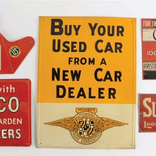 Lot Consists Of: Chesterfield Motor Oil Double Sided Tin Sign