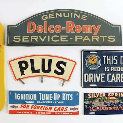 Lot Consists Of: Atlantic Gasoline Plus Tin Globe Attachment