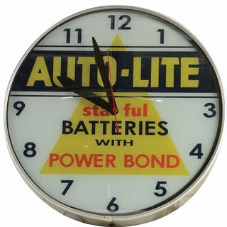 An excellent example of this great clock from Auto Lite Batteries