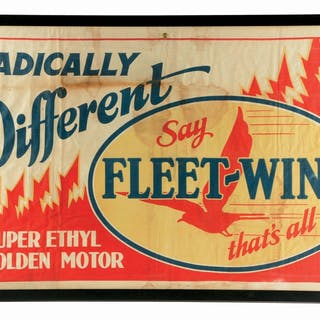 A very nice example of this banner from Fleet Wing Gasoline