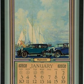 Calendar is professionally matted & framed behind glass