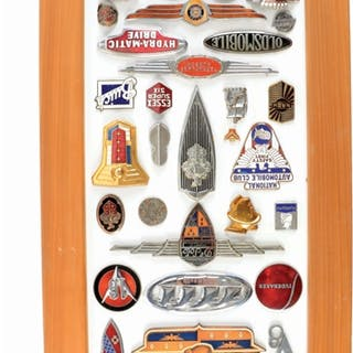 A very nice collection of thirty three Motor Car Badges...
