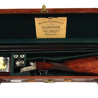 """(ca 1906) 30"""" dovetailed barrels with slightly swamped..."""