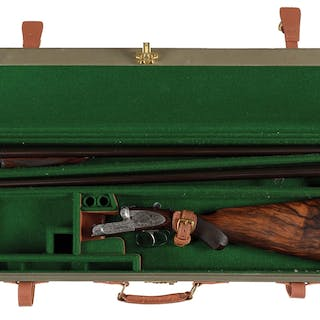 "Early circa 1906 ejector game gun with two sets of 12 bore 30"" barrels"