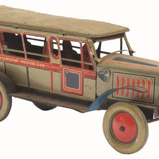 """Marked """"NEW"""" and """"EXCURSION MOTOR CAR"""" on both sides"""