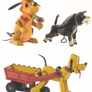 Lot consists of three Walt Disney toys made by Linemar: first