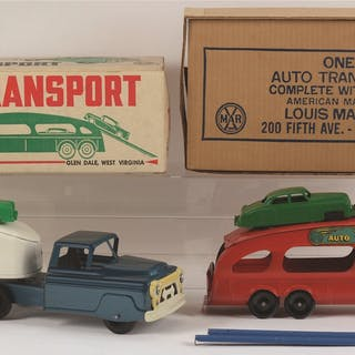 Both in original boxes with metal cabs and appear in unsold condition
