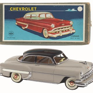 Includes original box with nice paper label and color graphics of car