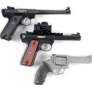 Lot consists of (A) Ruger Target Model 22/45...