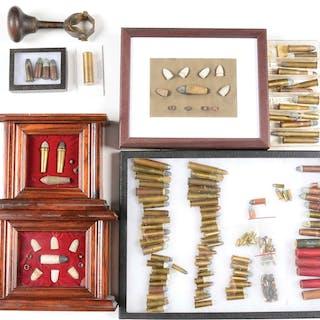 Includes a framed display of three Burnside cartridges